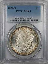 1878 S Morgan    $1 PCGS Light Toning (8K)