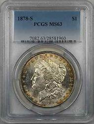 1878 S Morgan    $1 PCGS Light Toning (8O)