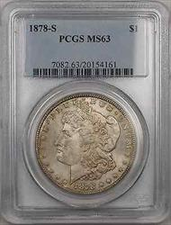 1878 S Morgan    $1 PCGS Toned (8C)