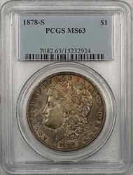1878 S Morgan    $1 PCGS Toned (8F)