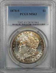 1878 S Morgan    $1 PCGS Toned Better Quality  (8N)