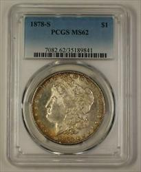 1878 S Morgan    PCGS Toned (Better Semi Proof Like) (18)