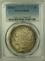 1878 S Morgan    PCGS Toned B (21)