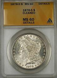 1878 S Morgan   $1  ANACS Details Cleaned (6E)