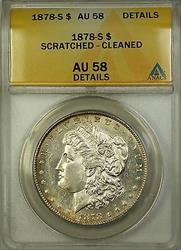 1878 S Morgan   $1  ANACS Details Scratched Cleaned (16)
