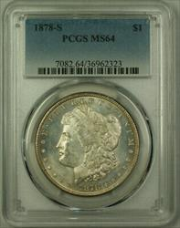 1878 S Morgan   $1  PCGS Semi PL Obverse Toned Rev. (20)