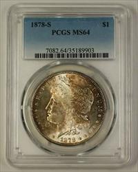1878 S Morgan   $1  PCGS Toned (Better Gem) (18)