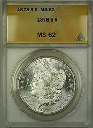1878 S Morgan   $1 ANACS (Better  Semi Proof Like) RL