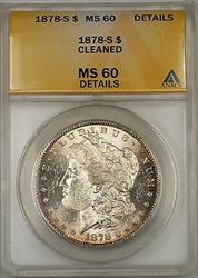 1878 S Morgan   $1 ANACS Details Cleaned (Better ) (6C)