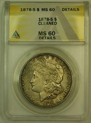 1878 S Morgan   S$1 ANACS Details Cleaned