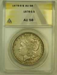 1878 S Morgan   S$1 ANACS SPL Toning