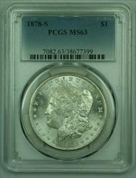 1878 S Morgan   S$1 PCGS Frosty Luster (25)