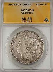 1879 CC Morgan    $1 ANACS Details Cleaned