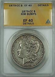1879 CC Morgan   $1  ANACS Details Rim Bumps