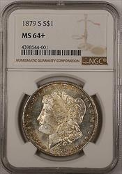 1879 S $1 Morgan    NGC + Semi Proof Like Toned (13)