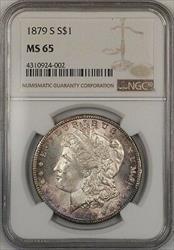 1879 S Morgan   $1  NGC Toned Gem