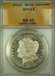 1879 S Morgan   $1 ANACS CAMEO DMPL (WW)