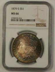 1879 S Morgan   $1 NGC Gem Beautifully Toned
