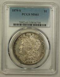 1879 S US Morgan   $1  PCGS Nicely Toned 4