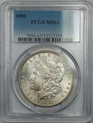 1880 $1 Morgan   PCGS Better  5A