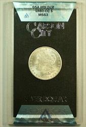 1880 CC GSA Morgan   $1  ANACS with Box & COA