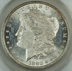 1880 O Morgan   $1 ANACS Details Cleaned SPL Very Attractive