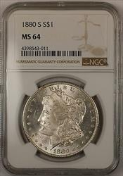 1880 S $1 Morgan    NGC Rim Toning (13)