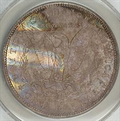 1880 S Morgan    ANACS  Toned Reverse Unusual
