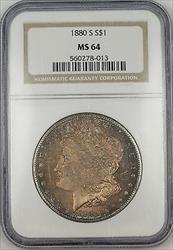 1880 S Morgan    NGC Beautifully Toned (Proof Like) (Tb)