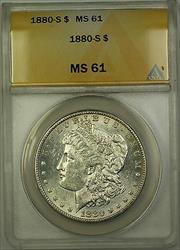 1880 S Morgan   $1  ANACS