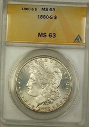1880 S Morgan   $1  ANACS (1d)