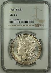 1880 S Morgan   $1  NGC Lightly Toned (15a)