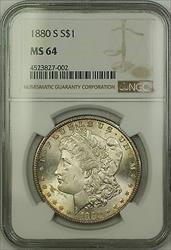 1880 S Morgan   $1  NGC Lightly Toned (15b)