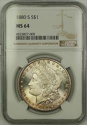 1880 S Morgan   $1  NGC Lightly Toned (15d)
