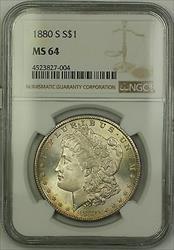 1880 S Morgan   $1  NGC Lightly Toned (15e)