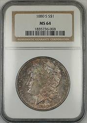 1880 S Morgan   $1  NGC Toned (Ta)