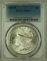 1880 S Morgan   $1  PCGS (14b)