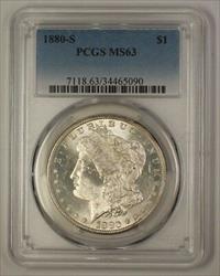 1880 S Morgan   $1  PCGS (17a)