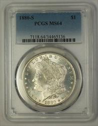 1880 S Morgan   $1  PCGS (17c)