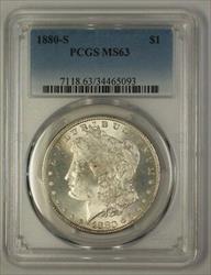 1880 S Morgan   $1  PCGS (17d) (Better)