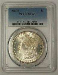 1880 S Morgan   $1  PCGS (17f) (Better)