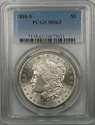 1880 S Morgan   $1  PCGS Better  (6 A)