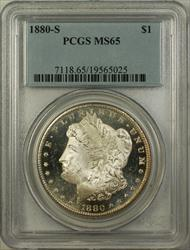 1880 S Morgan   $1  PCGS Better  Proof Like Obverse RL