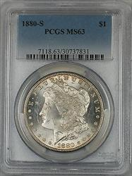 1880 S Morgan   $1  PCGS Lightly Toned (2C)