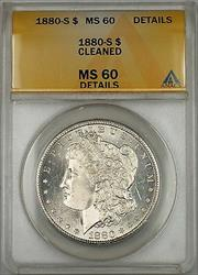 1880 S Morgan   $1 ANACS Details Cleaned (Better ) (6A)