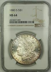 1880 S Morgan   $1 NGC Lightly Toned (Better ) (15c)