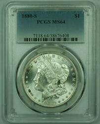 1880 S Morgan   S$1 PCGS Spotty Toning B (25)