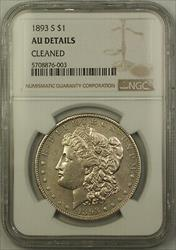1893 S Morgan   $1 NGC AU Details Cleaned *KEY DATE*