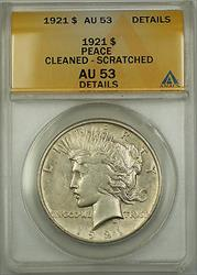 1921 Peace    $1 ANACS Details  Cleaned & Scratched