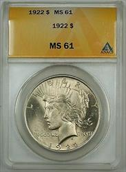 1922  Peace  $1  ANACS